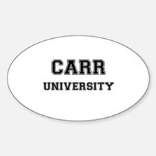 CARR UNIVERSITY Oval Decal