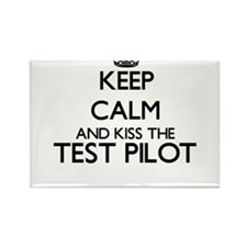 Keep calm and kiss the Test Pilot Magnets
