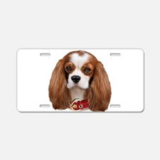 Cavalier King Charles Portr Aluminum License Plate