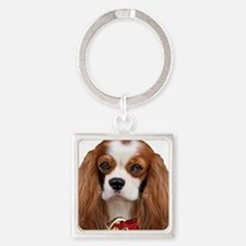 Cavalier King Charles Portrait Square Keychain
