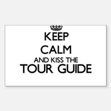 Keep calm and kiss the Tour Guide Decal