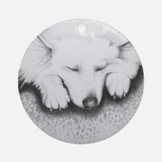 Sleeping Lily Ornament (Round)