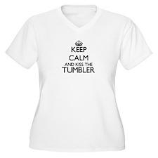 Keep calm and kiss the Tumbler Plus Size T-Shirt