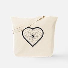 Love Mountain Biking Tote Bag