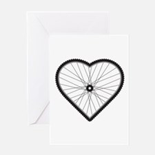Love Mountain Biking Greeting Card