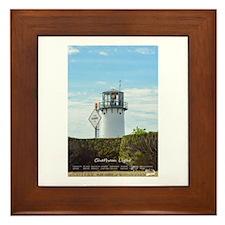 Chatham Light. Cape Cod. Framed Tile