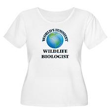 World's Funniest Wildlife Biolog Plus Size T-Shirt