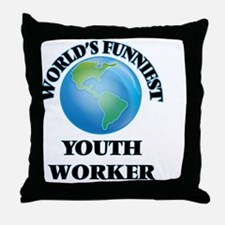 World's Funniest Youth Worker Throw Pillow