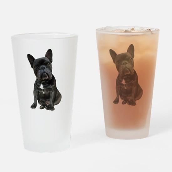French Bulldog Puppy Portrait Drinking Glass