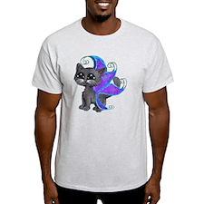 Cute Russian blue cat art T-Shirt