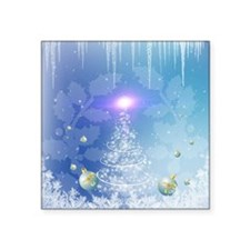 White christmas tree with a light effect Sticker