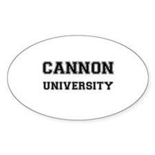 CANNON UNIVERSITY Oval Decal