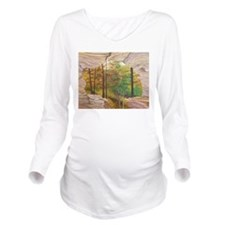 Cave View Long Sleeve Maternity T-Shirt