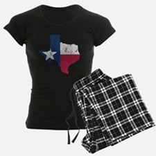 Vintage Texas State Outline Flag Pajamas