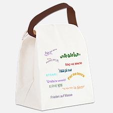 Shamrock Dancing Canvas Lunch Bag