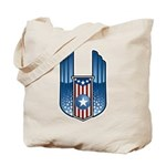 USA Patriotic Winged Crest Tote Bag