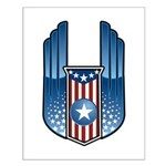 USA Patriotic Winged Crest Small Poster