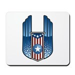 USA Patriotic Winged Crest Mousepad
