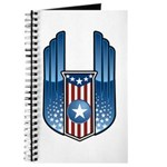 USA Patriotic Winged Crest Journal