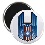 USA Patriotic Winged Crest Magnet