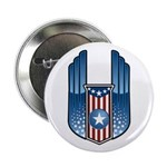"USA Patriotic Winged Crest 2.25"" Button (100 pack)"