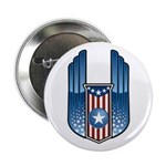 USA Patriotic Winged Crest Button