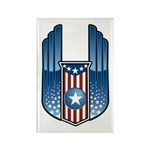 USA Patriotic Winged Crest Rectangle Magnet (10 pa