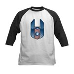 USA Patriotic Winged Crest Kids Baseball Jersey