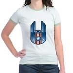 USA Patriotic Winged Crest Jr. Ringer T-Shirt