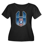USA Patriotic Winged Crest Women's Plus Size Scoop
