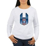 USA Patriotic Winged Crest Women's Long Sleeve T-S