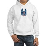 USA Patriotic Winged Crest Hooded Sweatshirt