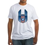 USA Patriotic Winged Crest Fitted T-Shirt