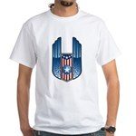 USA Patriotic Winged Crest White T-Shirt