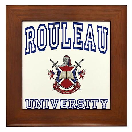 ROULEAU University Framed Tile