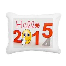 Welcome 2015 Rectangular Canvas Pillow
