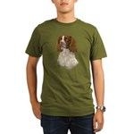 English Springer Span Organic Men's T-Shirt (dark)
