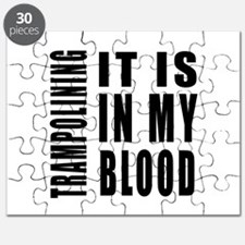 Trampolining it is in my blood Puzzle