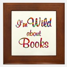 Wild About Books Framed Tile