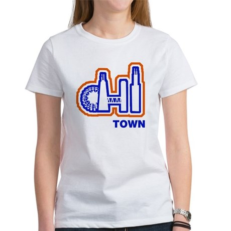 Chi town sports teams women 39 s classic white t shirt chi Chi town t shirts