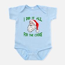 Santa did it cookie Infant Bodysuit
