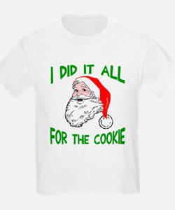 Santa did it cookie T-Shirt