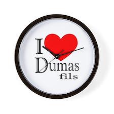 I Love Dumas Fils Wall Clock