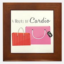 4 Hours Of Cardio Framed Tile