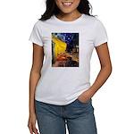 Cafe & Dachshund Women's T-Shirt