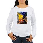 Cafe & Dachshund Women's Long Sleeve T-Shirt