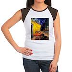 Cafe & Dachshund Women's Cap Sleeve T-Shirt