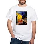 Cafe & Dachshund White T-Shirt