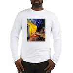 Cafe & Dachshund Long Sleeve T-Shirt