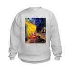 Cafe & Dachshund Kids Sweatshirt